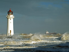 Might of the Mersey. (Mr Grimesdale) Tags: lighthouse liverpool waves stormy olympus breakers wirral newbrighton merseyside e510 rivermersey mrgrimsdale stevewallace newbrightonlighthouse perchrock perchrocklighthouse pfogold mrgrimesdale mightofthemersey