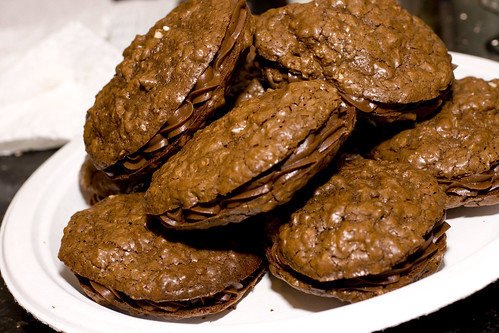 Chocolate Oatmeal Sandwich Cookie 4