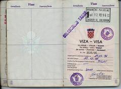 Croatia Visa in a Passport