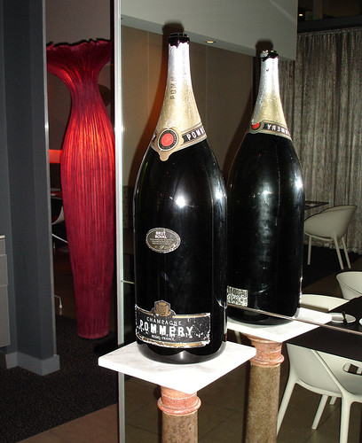 massive bottle of pommery at ansynthe