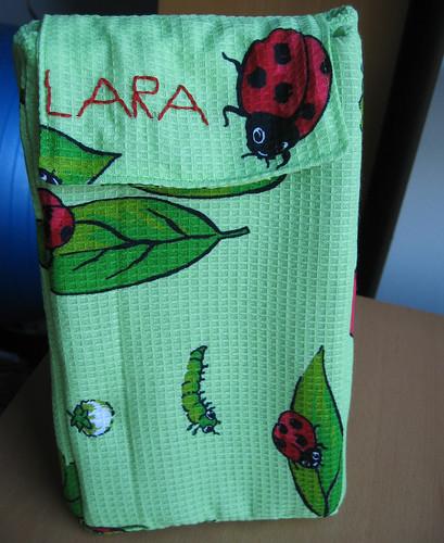 Lara's ladybug lunch bag