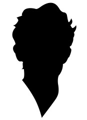 Face Silhouette (selvavinaygam) Tags: boy portrait male face silhouette closeup illustration photo graphics picture human features outline isolated barun