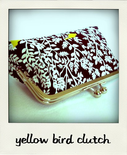 atelierofmine, yellow bird clutch-pola