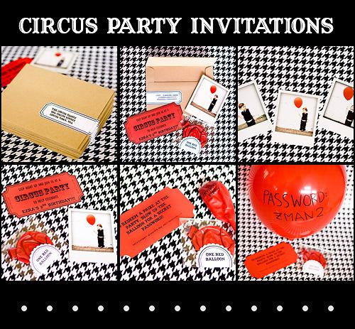 circus-invitations