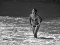 salt water (Luis Eduardo ) Tags: sea bw swimmer seawater bather luismosquera