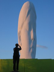 Jackie's Dream (Jackie & Dennis) Tags: sculpture statue dream sthelens clockface m62 jaumeplensa junction7 suttonmanor suttonmanorcolliery nationalcoalboard channel4bigartproject suttonmanorwoodland
