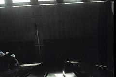 Dark escalators at Montreal's Lionel-Groulx Mtro station. (Steve Brandon) Tags: city railroad people canada film station train dark underground subway geotagged lomo lomography downtown publictransit publictransportation montral metro quebec montreal mtro escalator railway qubec westmount passenger stm publictransport  ville centreville dingy underexposed badphoto badphotography mtc   lionelgroulx filmphotography underexposure   fixedlens stcum    filmphoto 35mmcamera  escalierroulant socitdetransportdemontral muctc montrealtransportcommission   atwateravenue lemtrodemontral fujidl8