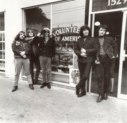 Grateful Dead 1966 (on Haight Street?) - copyright Herb Greene