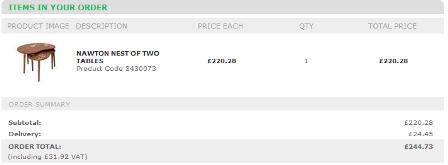 Laura Ashley delivery charges