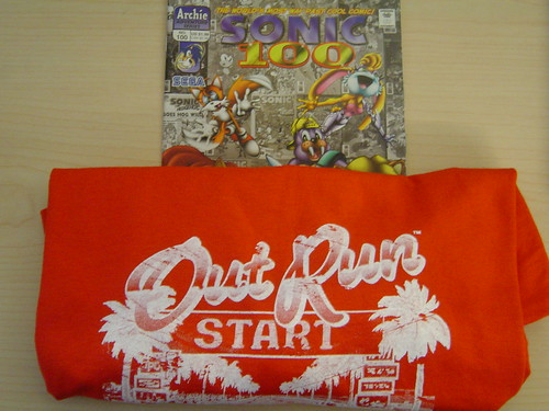 Sonic Comic and OutRun T-Shirt