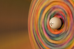 Spinning Golf Flower (martyphotoarts) Tags: sculpture motion color art ball golf spin spinning tees maxifli