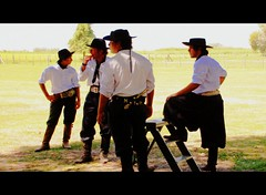 The Gauchos of LaFortuna (janetfo747) Tags: ranch men argentina cowboys silver four belt candid 4 explore grassland gauchos picnik gaucho lafortuna swards lafortunaranch