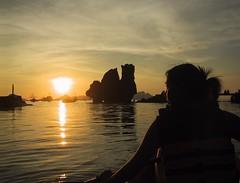 Lagen Sunet Kayaking - El Nido, Palawan 052504 109 (mjlsha) Tags: travel sunset sea island kayak philippines elnido palawan lagen miniloc canonpowershots100