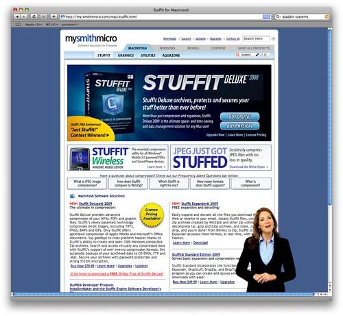 Step 5. StuffIt landing page