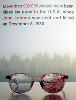 More than 932,000 people have been killed by guns in the U.S.A. since John Lennon was shot and killed on December 8, 1980.