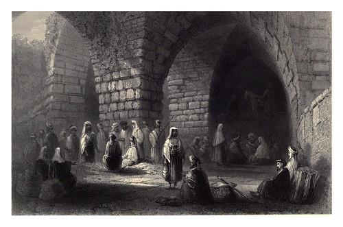 010-Albañileria romana y medieval en Jerusalem-Bartlett, W. H. 1840-1850