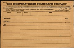 Western Union Telegram - 1880s