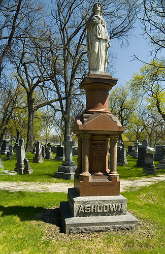 Pretentious grave marker