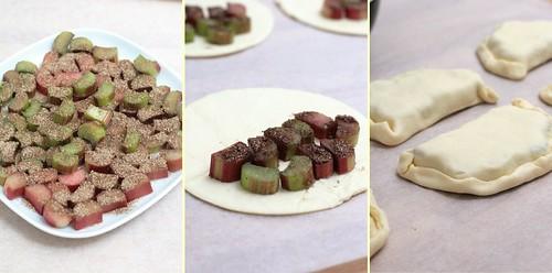 Rhubarbe à la vanille & pâte feuilletée
