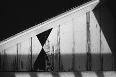 welcome (Ansel Olson) Tags: door wood light shadow film back nikon fuji floor painted screen porch neopan f3 50mmf14