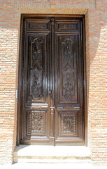 Ronda Door VII (cwgoodroe) Tags: summer costa white hot sol beach del bells spain ancient europe churches sunny bull bullfighter adobe ronda moors walls washed clothesline protective newbridge roda bullring stonebridge oldbridge spainish whitehilltown rondah spanishdoors
