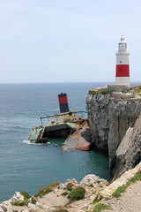 The LightHouse Must Have Been Broken! (cwgoodroe) Tags: ocean uk england costa sun lighthouse london castle sol beach beer del square airplane colorful europe wind gib military mosque bobby zane pint gibraltar runway policestation fishandchips territory instalation gibralter moneky fedra europapoint airtower angryfriar 3sheets zanelampry corgovesselsummer vesselcollision