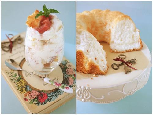 Angel Food Cake & Rhubarb Fool | Straight from the Farm