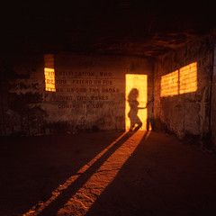 Bawdsey - High Res (barrycross) Tags: sunset shadow silhouette flickr poetry bunker ww2 goldenhour communicationmatters 500x500 nakedform winner500 barrycross easternlightphotography seenbymyeyes shiningart barrycrossphotography wwwbarrycrossphotographycom