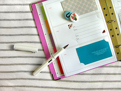 down to business (perfectbound) Tags: pen buttons stripes pins businesscards foutain lamy binder uppercase russellhazel peopletracker