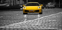 F430. (Denniske) Tags: cars coffee yellow jaune canon eos is europe belgium belgique belgi ferrari cc gelb giallo f and l antwerp 28 mm dennis geel 70200 coupe cnc f28 ef antwerpen anvers f430 noten berlinetta lseries llens 40d denniske