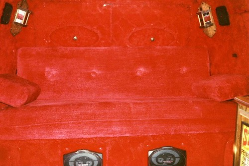 1978 Custom Chevy Van Interior Red