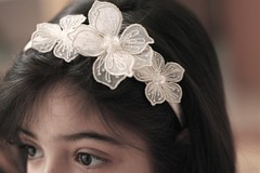 Leena (Wafa_1991) Tags: morning floral sunshine sister stare leena headband