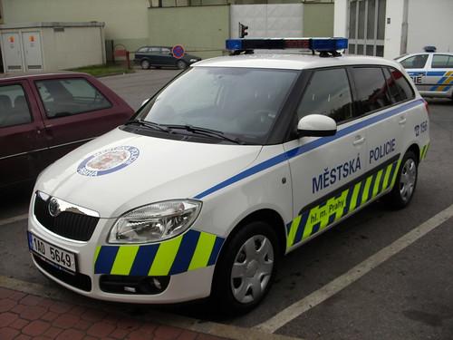 skoda police car