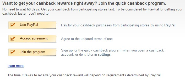 Bing Cash back