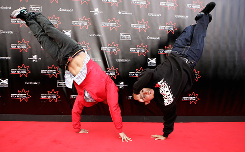 Turn it Loose breakdancers red carpet 190609