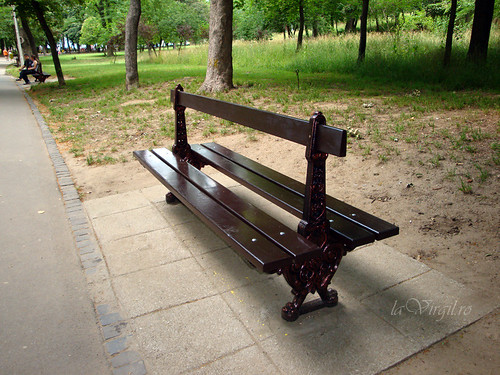 Se reconditioneaza bancile din parc