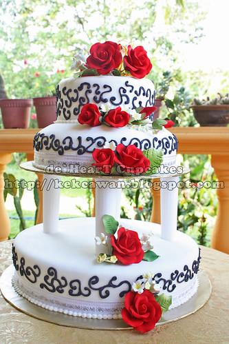 Cake 3 tier sanisah II