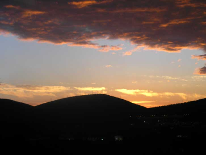Scranton sunset tonight - 6/23/09