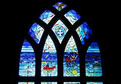 Worshipping The Oil (alphazeta) Tags: blue red brown black green window glass worshipping yellow scotland worship colours stainedglass aberdeen oil kirkofstnicholas worshippingtheoil