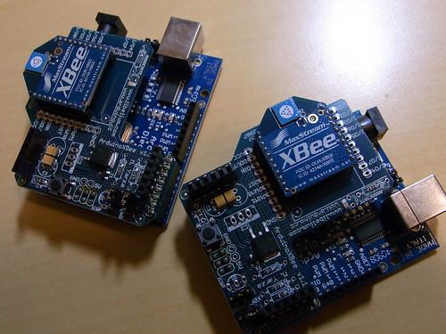 Arduino + Arduino XBEE Shield