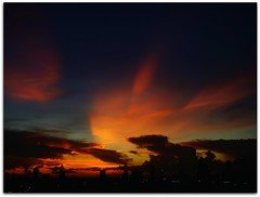 Bangkok on Fire (I Prahin | www.southeastasia-images.com) Tags: sunset red orange cloud skyline clouds thailand fire bangkok smoke stunning anarchy metropolis unrest redshirt sunsetmania