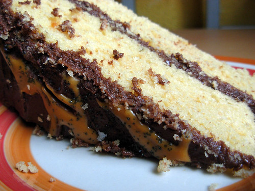 Peanut Butter Cake with Chocolate Peanut Frosting