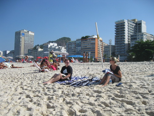 Hanging out on Copacabana Beach
