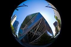 SPL n.2 (sophystica) Tags: seattle glass architecture canon steel fisheye remkoolhaas seattlepubliclibrary architettura vetro acciaio eos500d sophystika