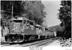 SBD 2674, 4763 & 3 more (Robert W. Thomson) Tags: railroad train diesel tennessee railway trains locomotive trainengine whiteside geep sbd emd gp382 gp38 gp30 gp7 gp16 seaboardsystem fouraxle