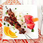 Soy-Marinated Beef Skewers