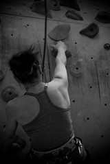Grip (mcsigu) Tags: bw face rock wall belgium climbing mons nord facenord