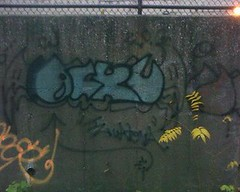 MY FIRST BOMBING PIECE! AND IS STILL ROCKIN!!! (iCKY*(R.I.P TOWN*)( EVIL LETTERS CREW *) Tags: old black one graffiti book sketch graff piece bomb bombing icky ick fill pece 1134