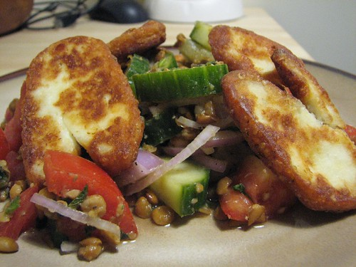 Haloumi with Lentil Salad 3