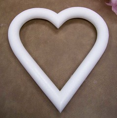 Styrofoam heart-shaped wreath form
